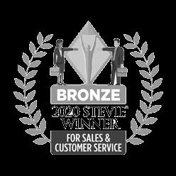 Bronze 2020 Stevie Winner for Sales & Customer Service award logo
