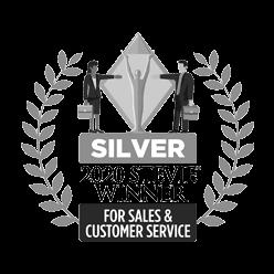 Silver 2020 Stevie Winner for Sales & Customer Service award logo