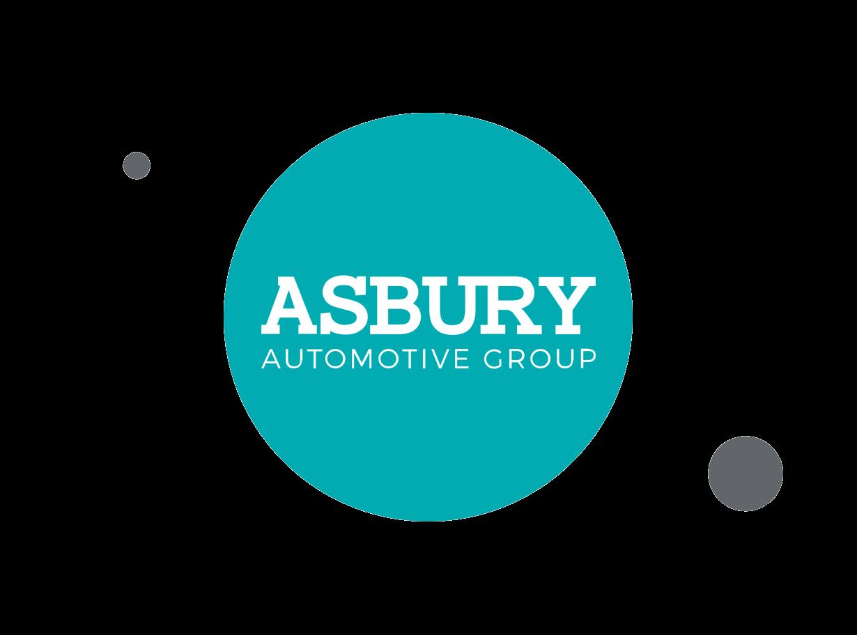 Asbury Automotive Group logo within teal circle