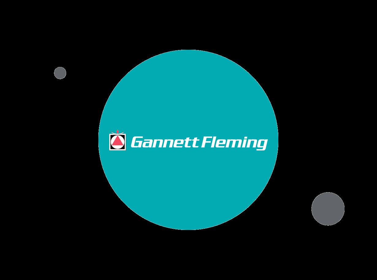Gannett Fleming logo within teal circle