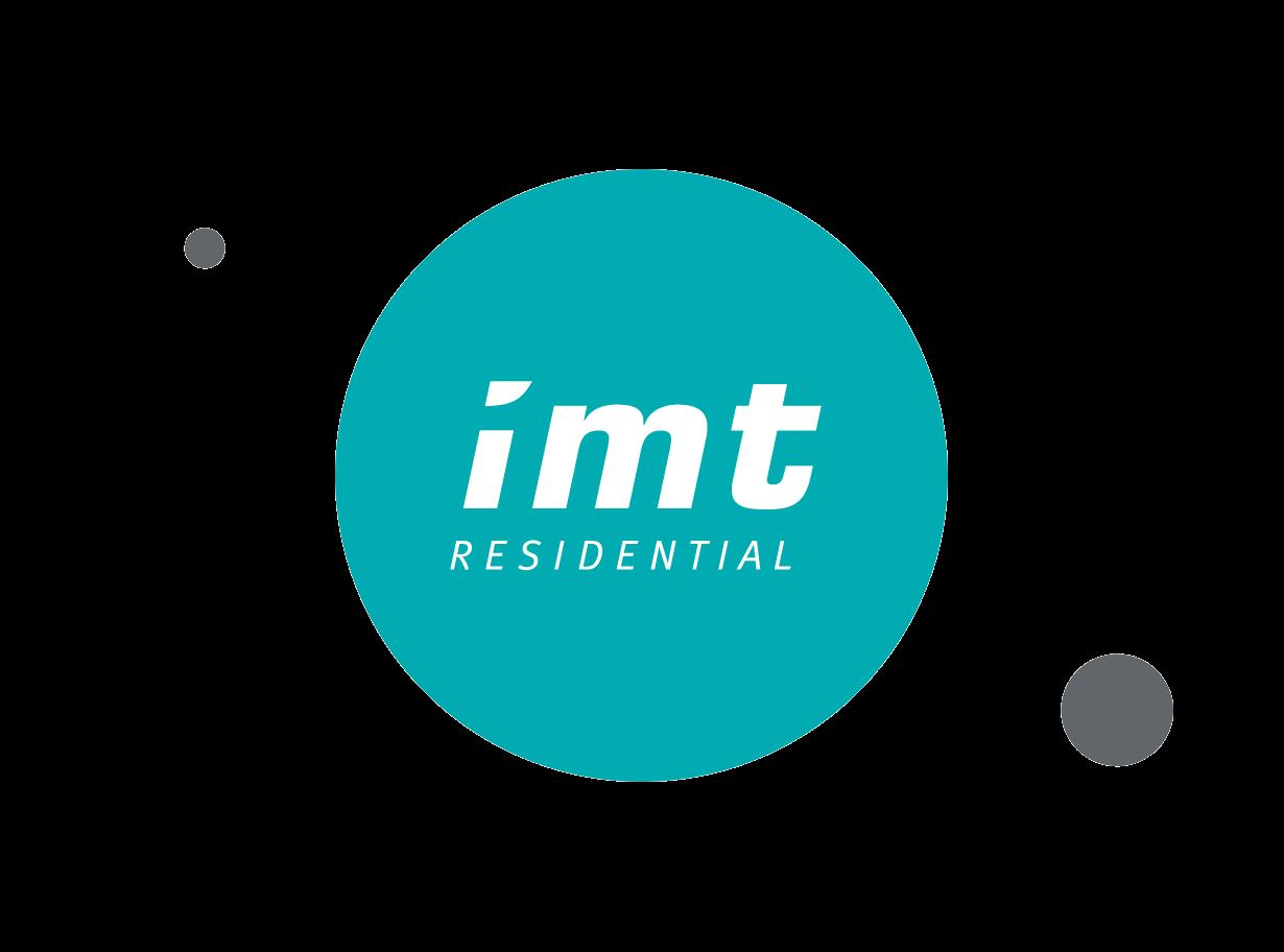 IMT Residential logo within teal circle