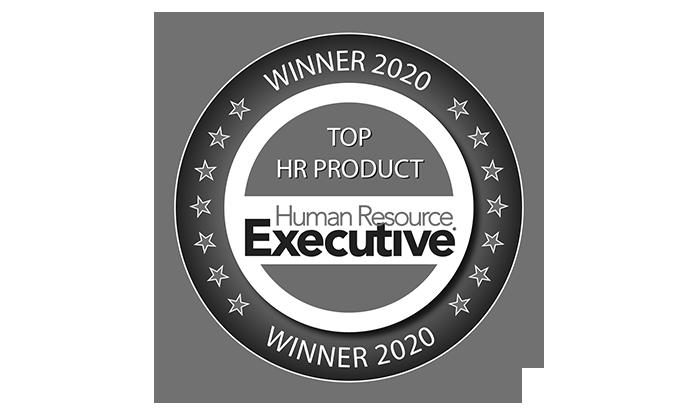 TOP HR Product Human Resource Executive Winner 2020 award badge logo