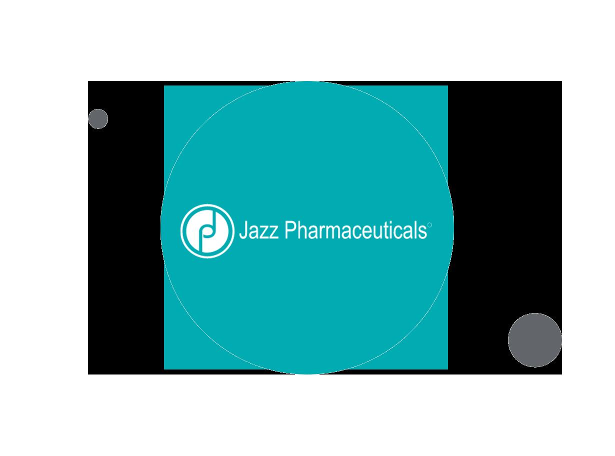 Jazz Pharmaceuticals logo within teal circle