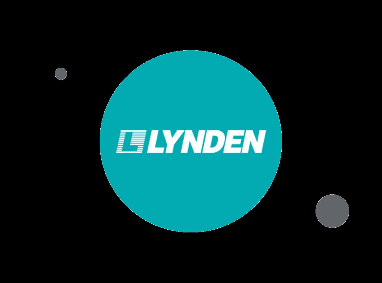 Lynden logo within teal circle