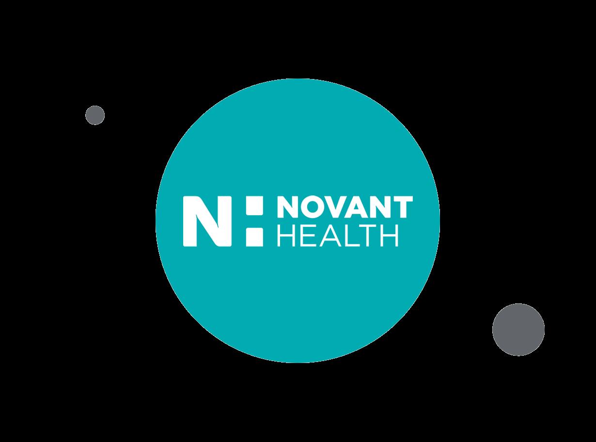 Novant Health logo within teal circle