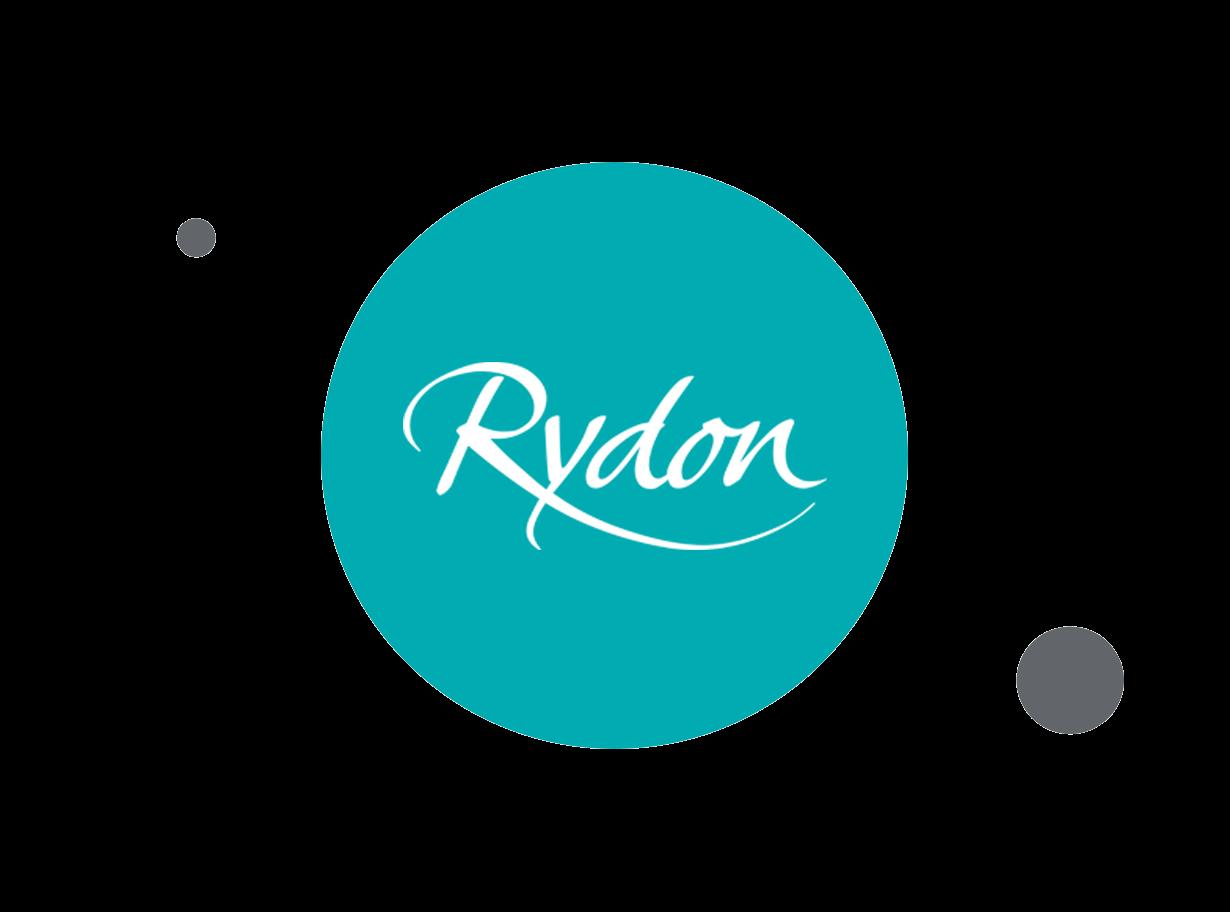 Rydon logo within teal circle