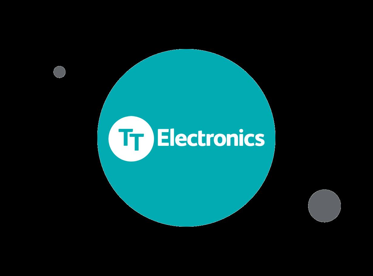 TT Electronics logo within teal circle