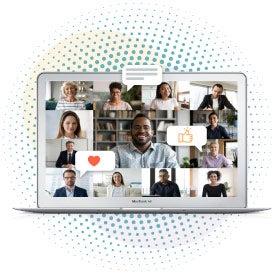 Employees navigating virtual workplace