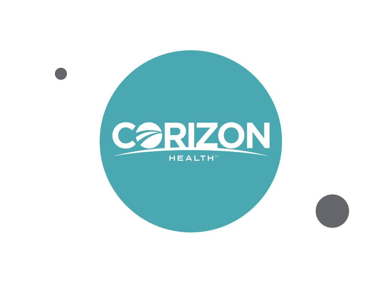 Corizon Health logo with teal background