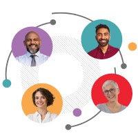 Four generation workforce diagram