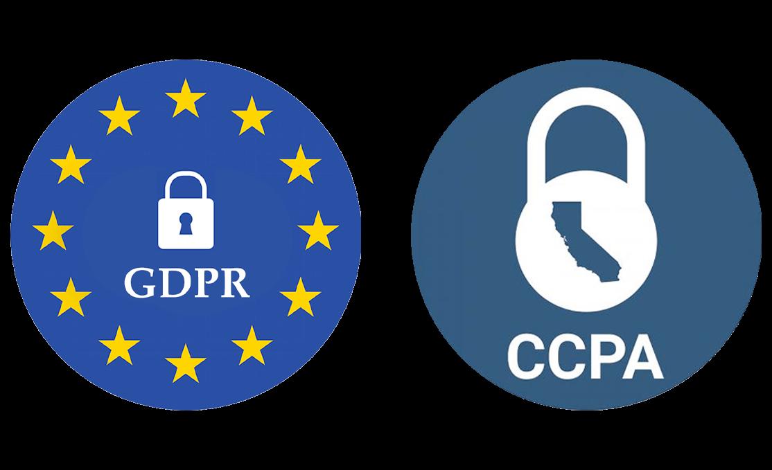 GDPR and CCPA logos