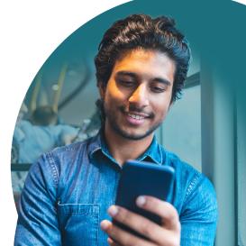 Employee using mobile hiring software